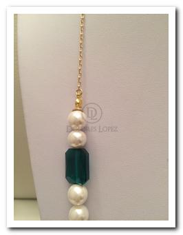 1d915aad08a4 Collar cadena con perlas. - Collares Dolores Lopez